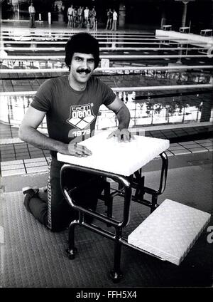 1972 - Mark Spitz in the Federal Republic of Germany. 7 gold medals Mark Spitz got in Munich 1972 at the Olympic - Stock Photo