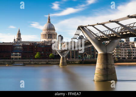 St.Pauls cathedral - Long Exposure version, London, England - Stock Photo