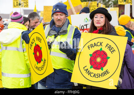 Cuadrilla applied to frack for shale gas in several sites in Lancashire but was turned down by Lancashire County - Stock Photo