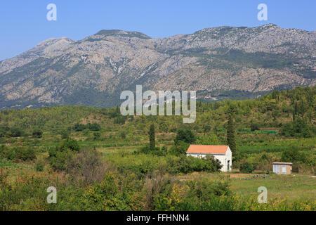 The Sutorina Valley along the Croatian-Montenegrin border in Montenegro, Europe - Stock Photo