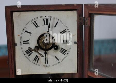 retro old clock face - Stock Photo