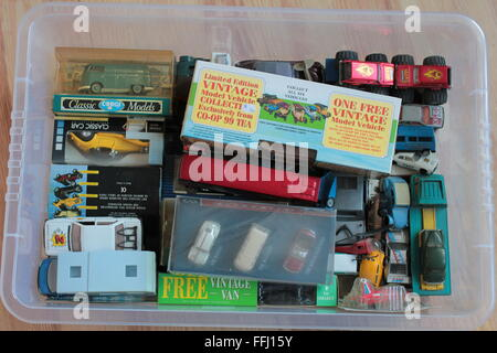 cast metal toy model car, van collection - Stock Photo