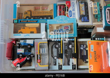 cast metal toy model car and van collection - Stock Photo