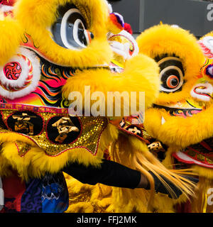 London, UK. 14th February, 2016. Chinese New Year Celebrations, London, UK   CHINATOWN THE YEAR OF THE MONKEY  2016 - Stock Photo