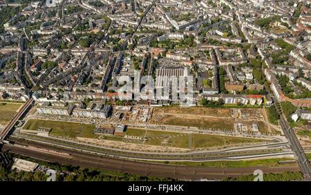Luftbild, Neue Stadtquartiere Derendorf,  Duesseldorf, Rheinland, Nordrhein-Westfalen, Deutschland, Europa - Stock Photo