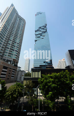 The ultra modern MahaNakhon Skyscraper in Bangkok, Thailand. - Stock Photo