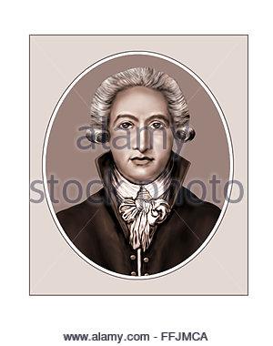 Johann Wolfgang von Goethe, Dramatist, Portrait - Stock Photo