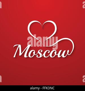 The custom hand lettering poster Moscow - Stock Photo