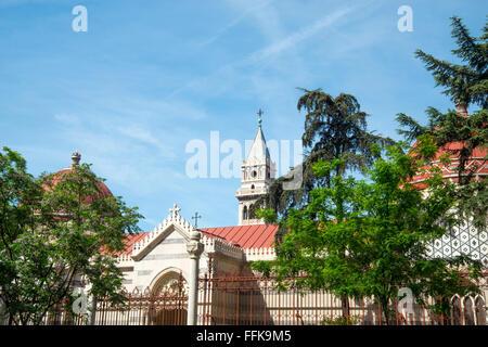 Virgen de Atocha basilica and Panteon de Hombres Ilustres. Madrid, Spain. - Stock Photo