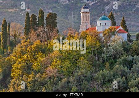 Church On The Hillside Kotor Montenegro - Stock Photo