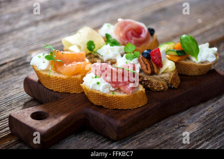 Delicious  Canapes - Stock Photo