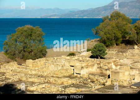 Griechenland, Kalamaki, Ausgrabung von Kommos in der Bucht von Messara, - Stock Photo