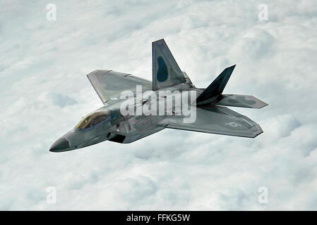 Lockheed Martin F-22 Raptor, stealth fighter aircraft of the US Air Force. Photo by USAF - Stock Photo