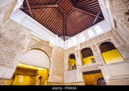 The Cordoba Synagogue interior in Cordoba, Spain. - Stock Photo