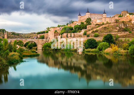 Toledo, Spain on the Tagus River. - Stock Photo