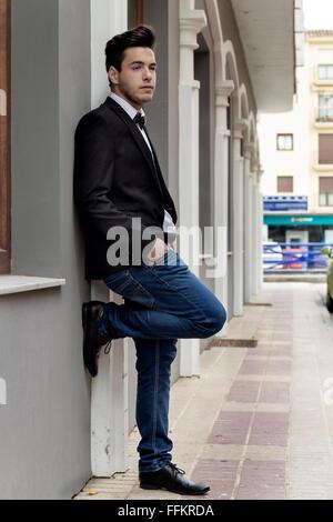 waiting boy - Stock Photo