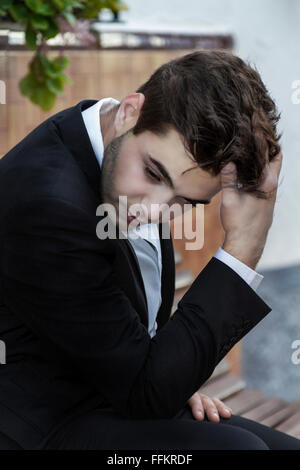 Lost in thought boy - Stock Photo