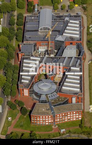 Aerial view, DASA German Arbeitsschutzausstellung Dorstfeld exhibition on occupational safety, Dortmund, Ruhr area, - Stock Photo
