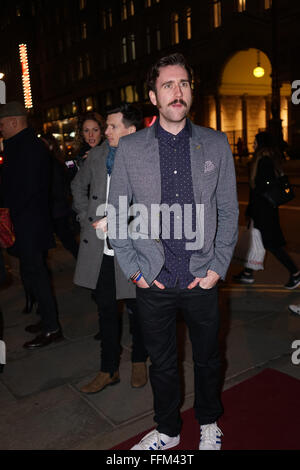 London, UK. 15th February, 2016. Matthew Lewis attends the of 'Hand To God' press night at Vaudeville Theatre on - Stock Photo