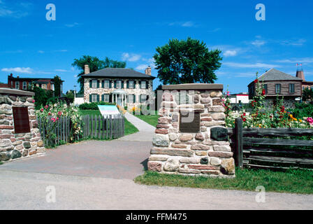 Sault Ste. Marie, Ontario, Canada - Ermatinger-Clergue National Historic Site - Stock Photo