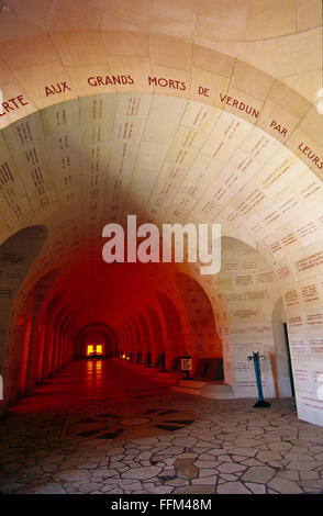 France, Meuse (55), Verdun, Douaumont ossuary  // Meuse (55), Verdun, ossuaire de Douaumont - Stock Photo