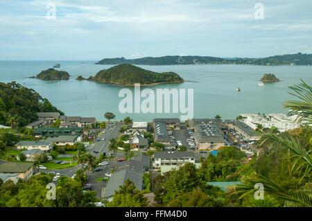 Paihia, Bay of Islands, New Zealand - Stock Photo