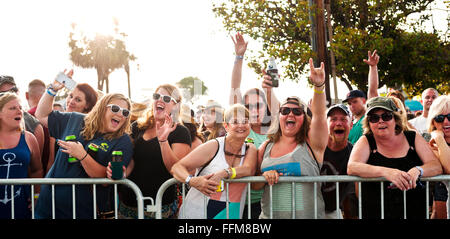 Concert goer's at the Carolina Country Music Festival in Myrtle Beach, South Carolina - Stock Photo