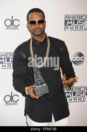 Rapper Juicy J, co-winner (with Katy Perry) of Single of the Year for 'Dark Horse,' poses in the press room at the - Stock Photo