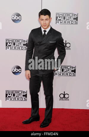 Recording artist Joe Jonas arrives at the 2014 American Music Awards at Nokia Theatre L.A. Live on November 23, - Stock Photo