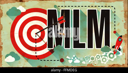 MLM on Poster in Grunge Design. - Stock Photo