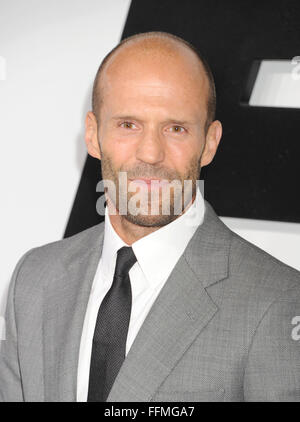 Actor Jason Statham arrives at the 'Furious 7' - Los Angeles Premiere at TCL Chinese Theatre IMAX on April 1, 2015 - Stock Photo