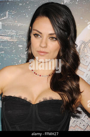 Actress Mila Kunis arrives at the 'Jupiter Ascending' Los Angeles Premiere at TCL Chinese Theatre on February 2, - Stock Photo