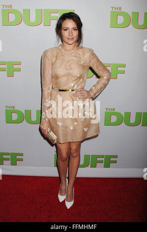 Actress Italia Ricci arrives at 'The Duff' Los Angeles special screening at the TCL Chinese 6 Theatres on February - Stock Photo