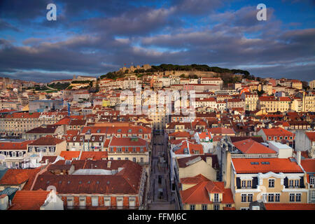 Lisbon. Image of Lisbon, Portugal during golden hour. - Stock Photo