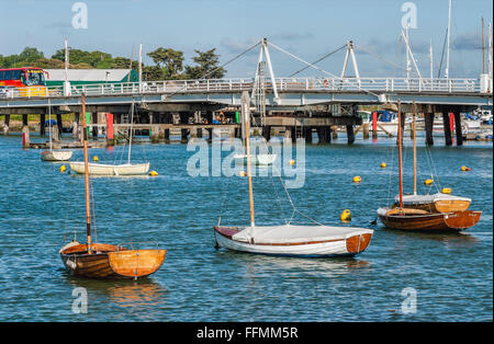 Marina of Yarmouth, north coast of Isle of Wight, England | Marina von Yarmouth an der Nordkueste der Isle of Wight, - Stock Photo