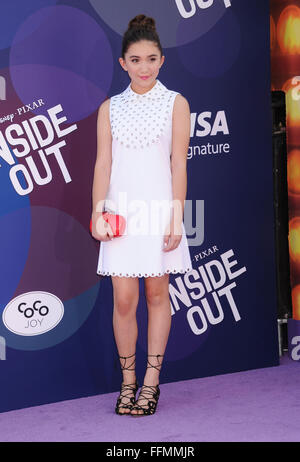 Actress Rowan Blanchard arrives at the Los Angeles premiere of Disney/Pixar's 'Inside Out' at the El Capitan Theatre - Stock Photo