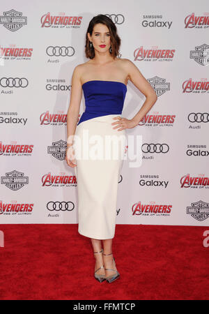 Actress Cobie Smulders arrives at the Marvel's 'Avengers: Age Of Ultron' - Los Angeles Premiere at Dolby Theatre - Stock Photo
