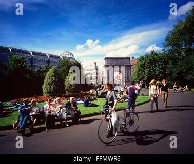 St Stephens Green Dublin Ireland - Stock Photo