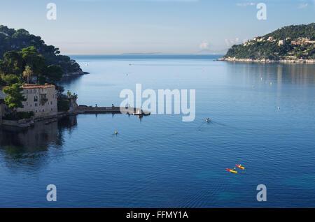 Espalmador Bay, Saint Jean Cap Ferrat, ALpes Maritimes, Provence Alpes Cote d'Azur, France, Europe - Stock Photo