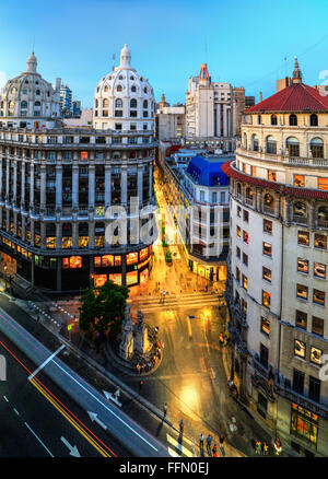 Aerial view of Florida (pedestrian) Street. Buenos Aires, Argentina, South America - Stock Photo