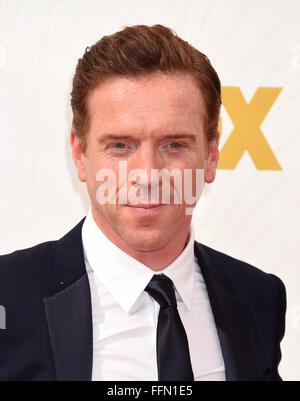 Actor Damian Lewis attends the 67th Annual Primetime Emmy Awards at Microsoft Theater on September 20, 2015 in Los - Stock Photo