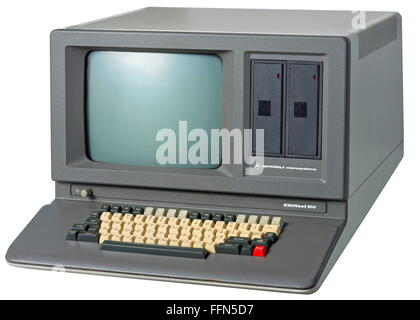 computer / electronics, computer, Motorola EXORset 100, early office computer, made by Motorola microsystems, microprocessor - Stock Photo