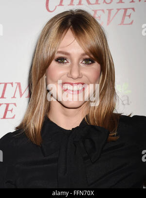 Actress Julianna Guill arrives at the premiere of Unstuck's 'Christmas Eve' at the ArcLight Hollywood on December - Stock Photo