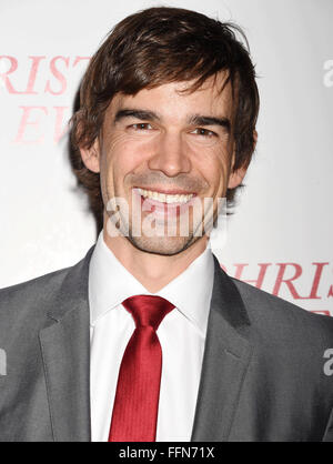 Actor Christopher Gorham arrives at the premiere of Unstuck's 'Christmas Eve' at the ArcLight Hollywood on December - Stock Photo