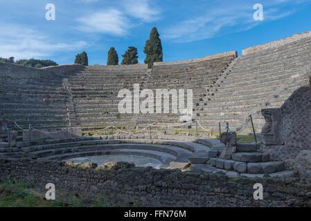 Pompeii Amphitheatre or Roman arena in the ancient city of Pompeii, Italy, Europe - Stock Photo