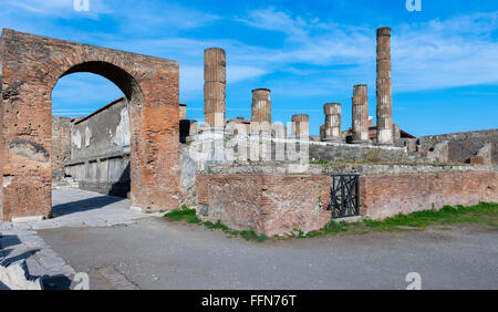Pompeii Ruins of the ancient Roman city in Italy, Europe - Stock Photo