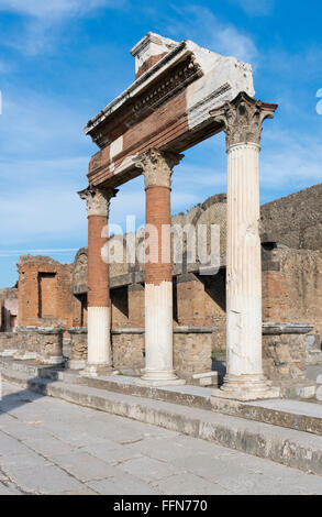 Pompeii Ruins in the ancient Roman city, Italy, Europe - Stock Photo