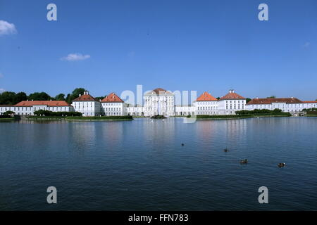 geography / travel, Germany, Bavaria, Munich, castles, Nymphenburg Castle, exterior view, Additional-Rights-Clearance - Stock Photo