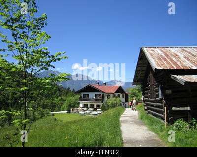 geography / travel, Germany, Bavaria, landscapes, Rein Valley, alpine dairy 'Wetterstein', Additional-Rights-Clearance - Stock Photo