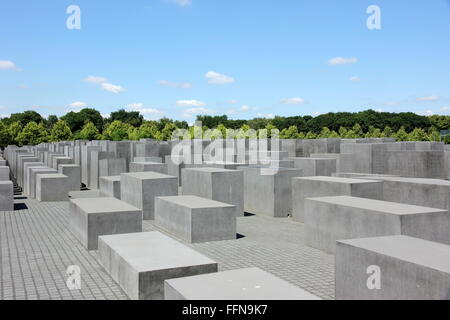 geography / travel, Germany, Berlin, monuments, Memorial to the Murdered Jews of Europe, built: 2003 - 2005, exterior - Stock Photo